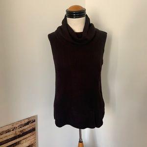 Fred David Medium Cowl Neck Sleeveless Sweater